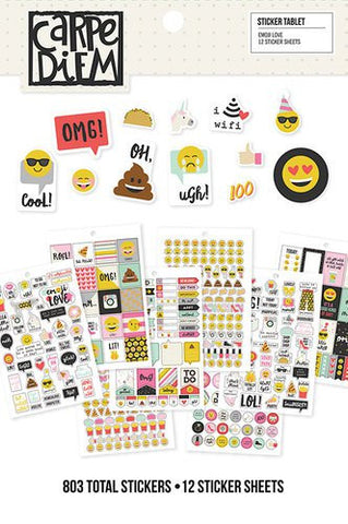 Simple Stories Emoji Love 12 Sticker Sheets