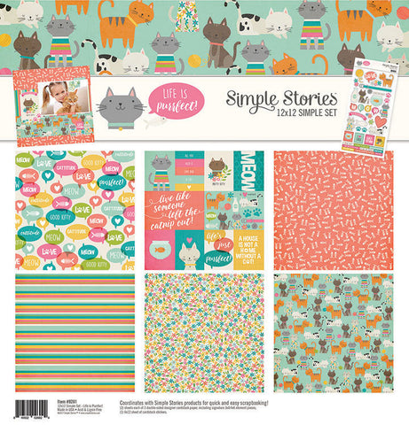 Simple Stories 12x12 Simple Set Life is Purrfect