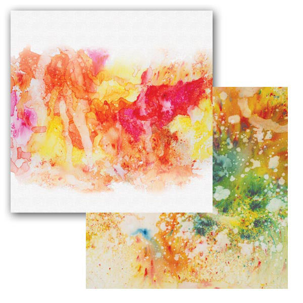 Ken Oliver Color Burst Splash 12x12 Paper - Swoosh