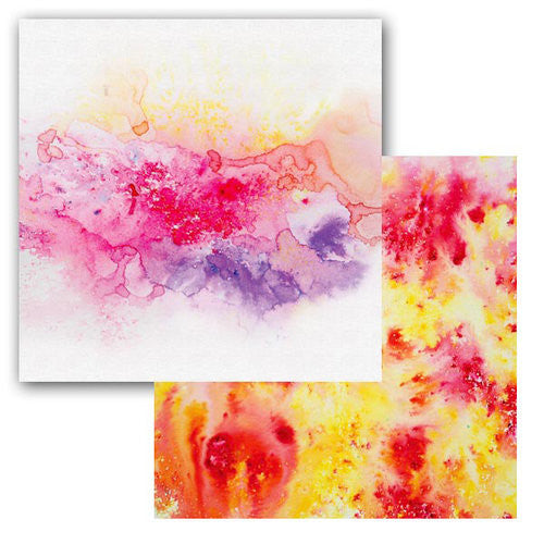 Ken Oliver Color Burst Splash 12x12 Paper - Swirl