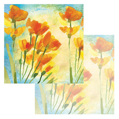 Ken Oliver Watercolor Florals 12x12 Paper - Freesia