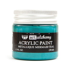 Finnabair Art Alchemy Acrylic Paint Metallic Mermaid Teal