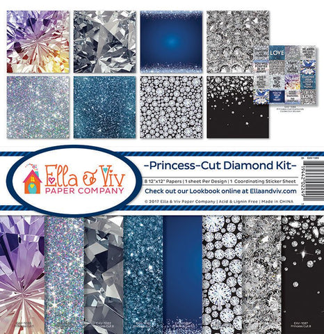 Ella & Viv Paper Company Collection Kit - Princess-diamond Cut Kit