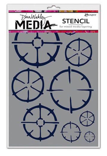 Dina Wakley Media 6x8 Stencil Wheels