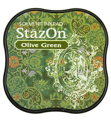 StazOn Midi Ink Pad Olive Green