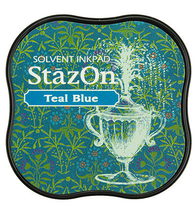 StazOn Midi Ink Pad Teal Blue
