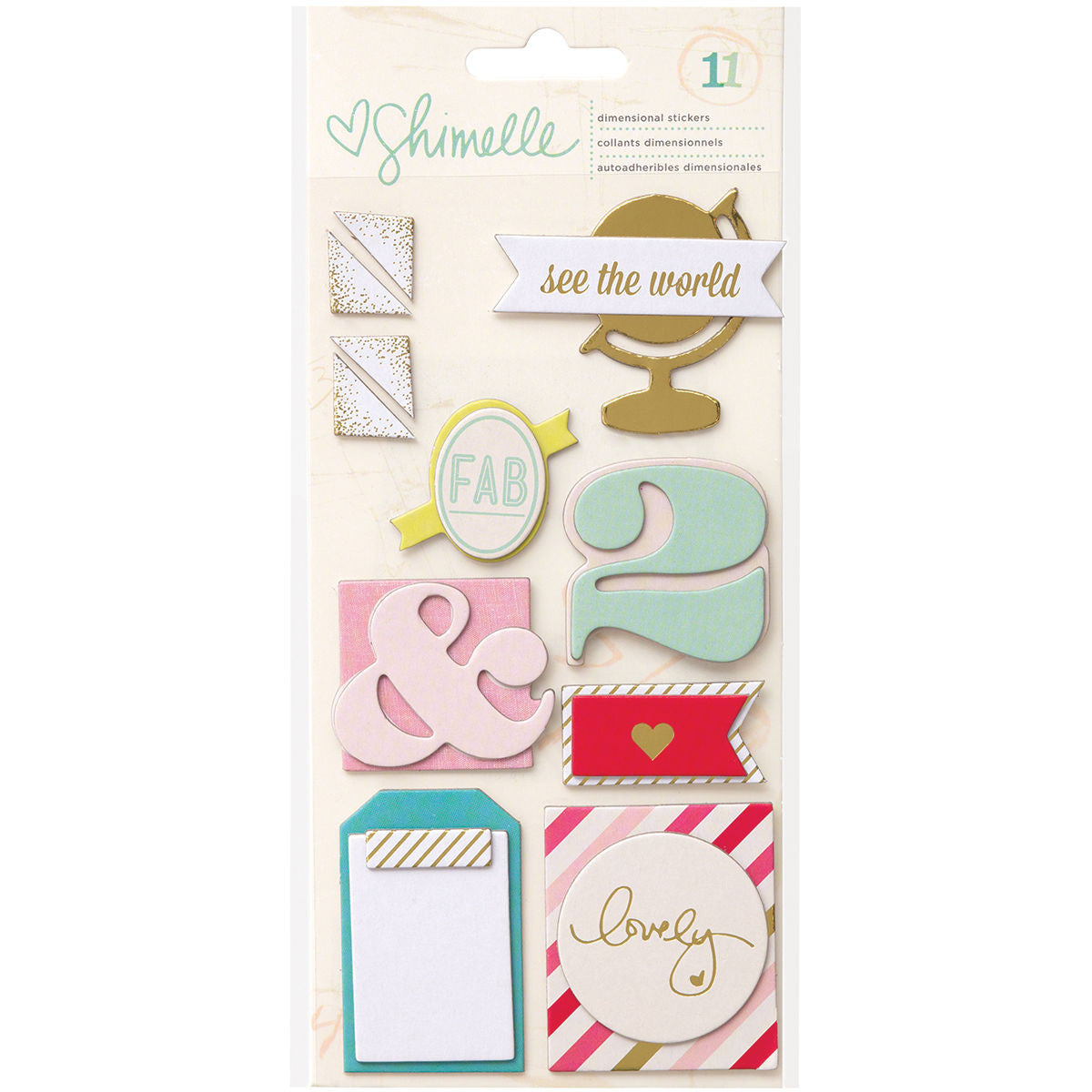 Shimelle Dimensional Stickers
