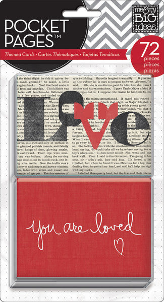 MAMBI Pocket Pages Themed Cards You Are Loved