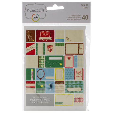 Project Life Themed Cards 40 Pack Tennis