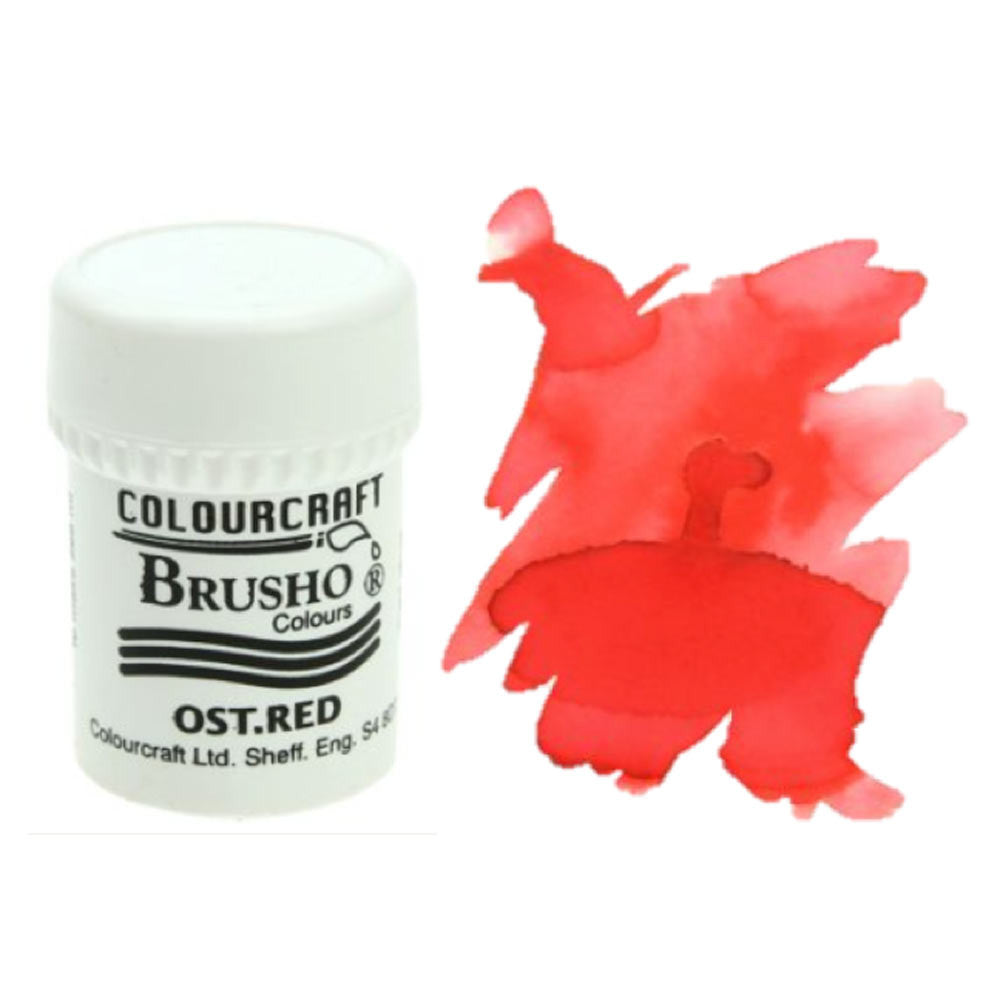 Brusho Colours - Water Colour Powder - Ost. Red