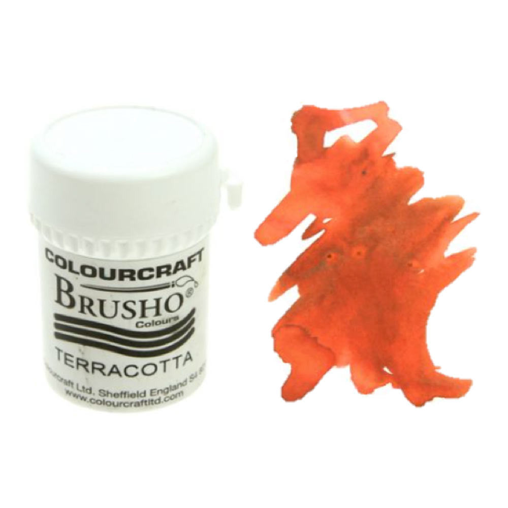 Brusho Colours - Water Colour Powder - Terracotta