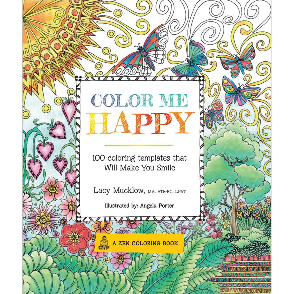 A Zen Colouring Book- Color Me Happy