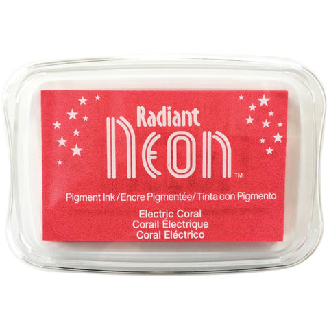 Radiant Neon Ink Pad Electric Coral