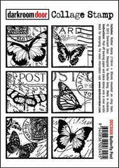 DRD Collage Stamp Butterfly Post