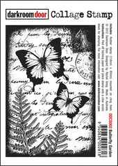 DRD Collage Stamp Butterfly Garden