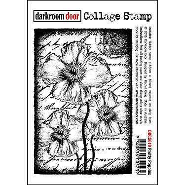 DRD Collage Stamp Pretty Poppies