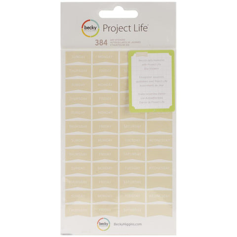 Project Life Day Stickers Tan