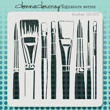 Donna Downey 8x8 Stencil Brushes