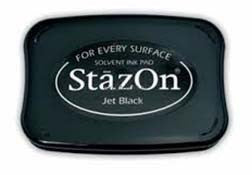 StazOn Solvent Ink Pad Jet Black