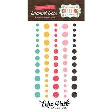 Echo Park Enamel Dots I'd Rather Be Crafting