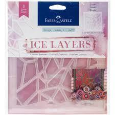 Faber-Castell Ice Layers Adhesive Textures Geode
