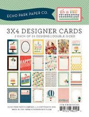 Echo Park For The Record Memos 3x4 Designer Cards
