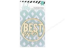 Heidi Swapp Wood Veneer & Cardstock Best Ever