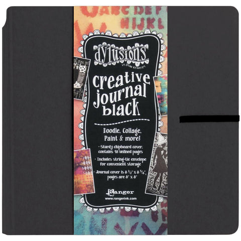 Dylusions Square Art Journal 8x8 Black