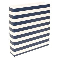 PL Becky Higgins Navy Stripe 6x8 Album