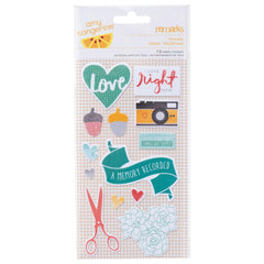 Amy Tangerine Stitched Fabric Stickers