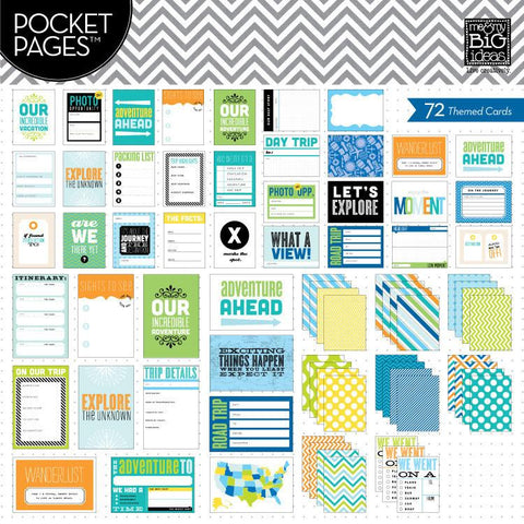 MAMBI Pocket Pages Themed Cards Travel/Vacation