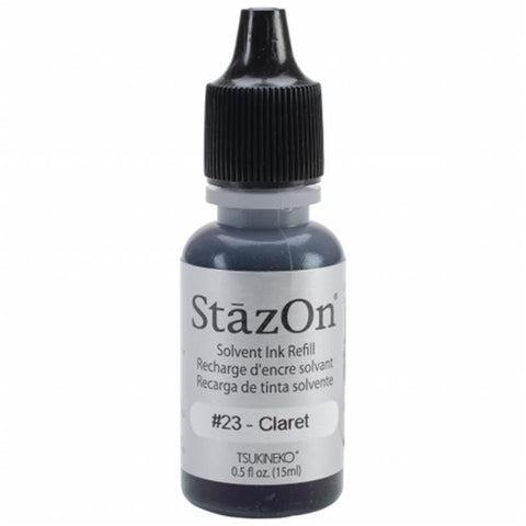 StazOn Solvent Ink Refill Claret