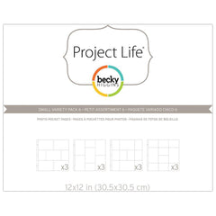 Project Life 12x12 Small Variety Pack 6 Page Protectors 12 Pack