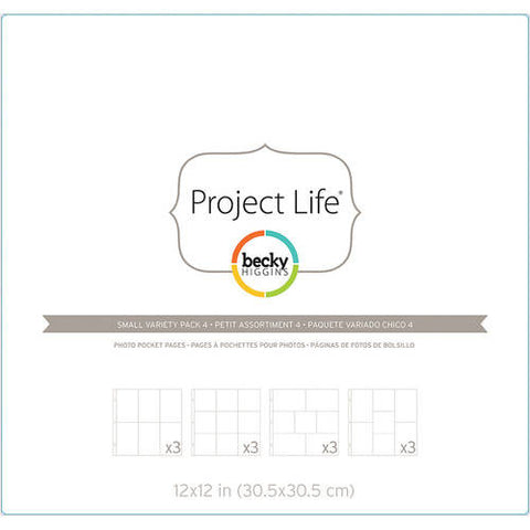 Project Life 12x12 Small Variety Pack 4 Page Protectors 12 Pack