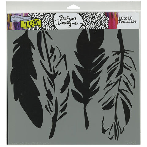 TCW 12x12 Template 4 Feathers