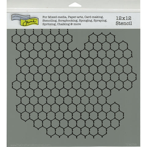 TCW 12x12 Template Chicken Wire Reversed