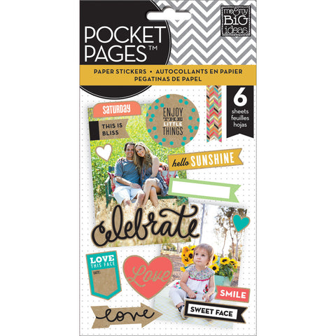 MAMBI Pocket Pages Paper Stickers Celebrate