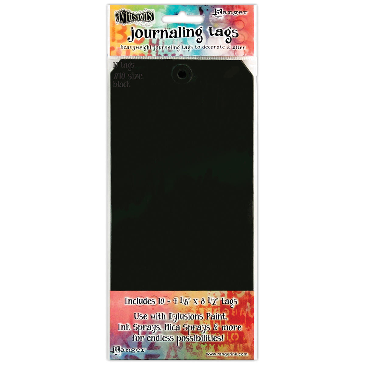 Dylusions Journaling Tags Black