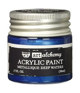 Finnabair Art Alchemy Acrylic Paint Metallic Deep Waters