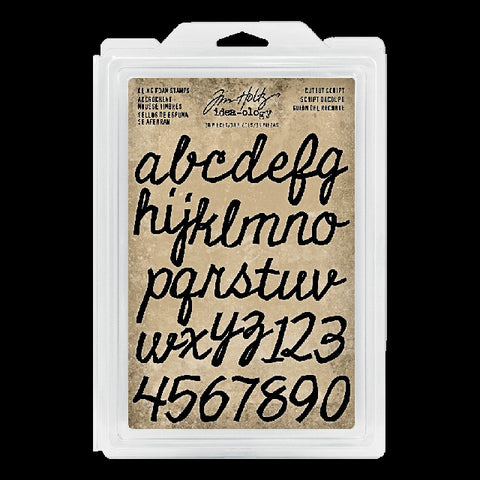 Tim Holtz Idea-ology Cling Foam Stamps Cutout Script