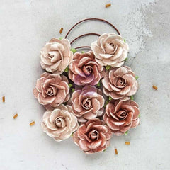 Prima Flowers 9 pieces - Solid Rose