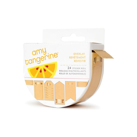 Amy Tangerine Stitched Kraft Stickers 24/roll