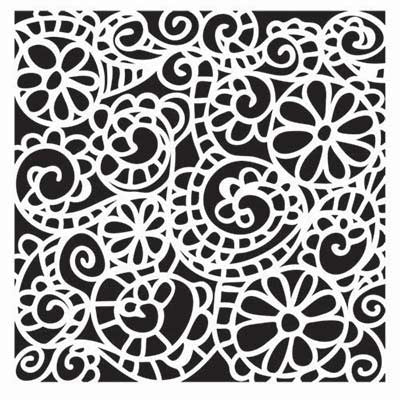 TCW 12x12 Template Swirly Garden