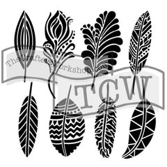 TCW 12x12 Template Fancy Feathers