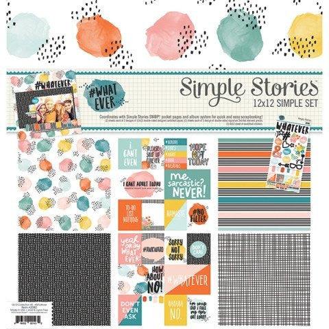 Simple Stories #Whatever 12x12 Simple Set