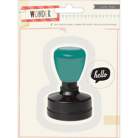 Crate Paper Wonder Self Inking Stamp Hello