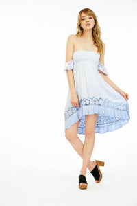 Tiare Hawaii Embroidered Lover Short Dress