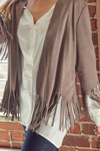 FRINGE CONCRETE JACKET