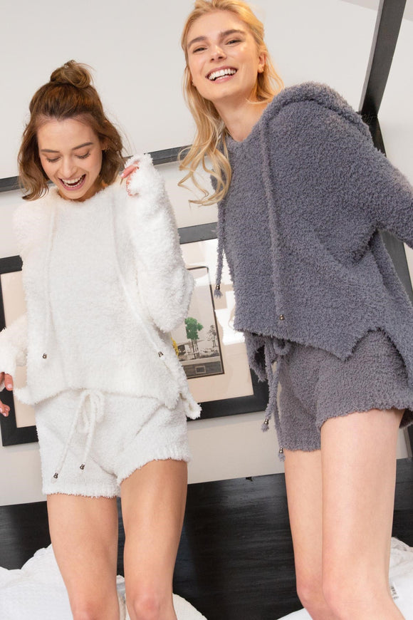 FLEECE COZY SHORTS