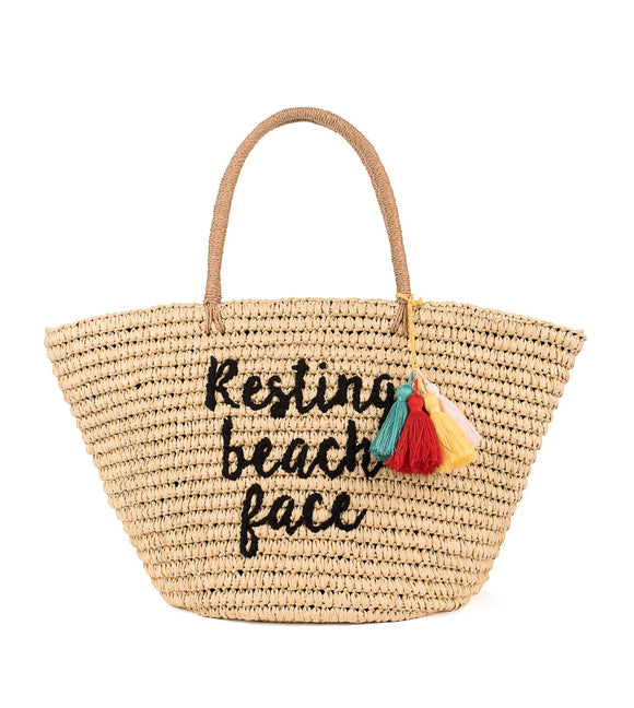CHEVEUX CORP. Resting Beach Face Tote